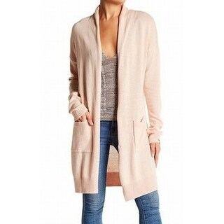 Abound NEW Pink Women's Size Small S Long Open Front Cardigan Sweater