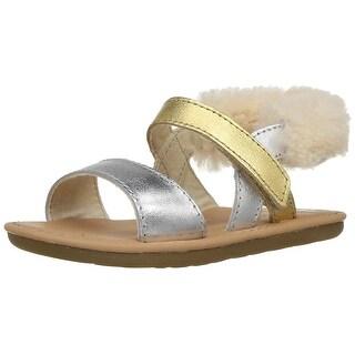 UGG Kids I Dorien Metallic Sandal - 2-3 M US Infant