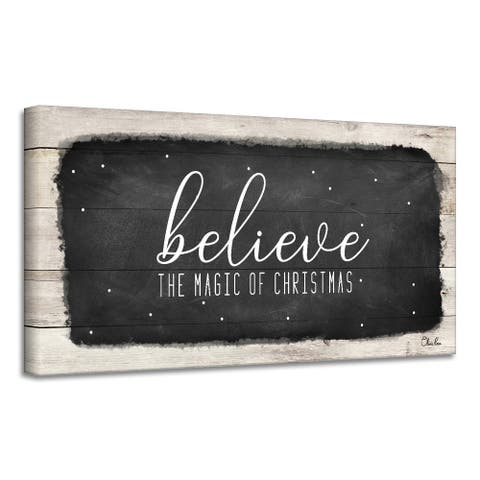Ready2HangArt 'Believe I' Holiday Canvas Wall Art by Olivia Rose