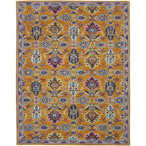 Calliope Sara Floral Hand-Tufted Wool Area Rug