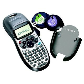 Dymo LetraTag Plus LT100T 2-Line Personal Label Maker, 8-3/8 in H X 2-5/8 in D X 3-1/8 in W, 9 Labels/Minute, Silver/Blue