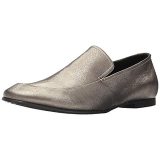 Calvin Klein Mens Nicco Loafers Embossed Leather - 8 medium (d)