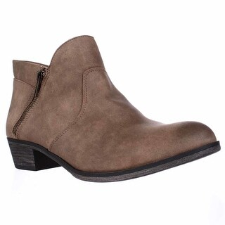 AR35 Abby Side Zip Short Ankle Boots, Tan