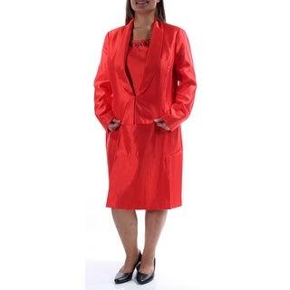 KASPER $240 Womens New 1235 Orange Beaded 2pc W/jacket Shift Dress 16 B+B