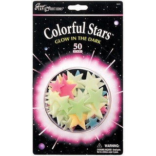 Glow-In-The-Dark Star Packs-Colorful Stars 50/Pkg