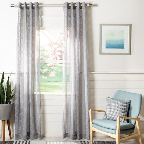Safavieh Gracie Semi-Sheer Window Curtain Panel