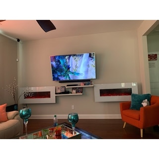 Shop Electric Fireplace Wall Mounted Color Changing Led