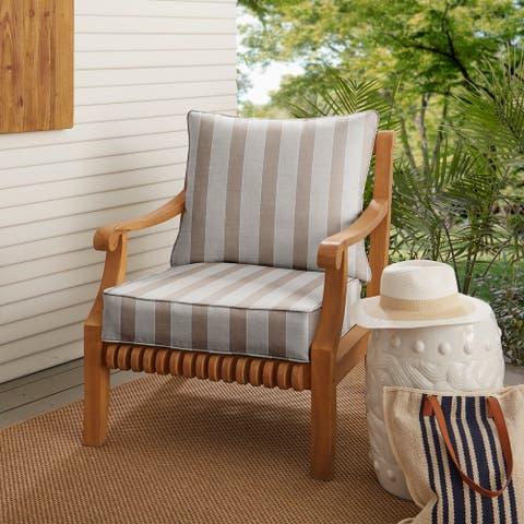 Sunbrella Range Dune Indoor/ Outdoor Chair Cushion Set