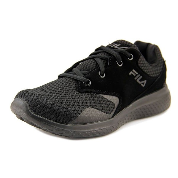Fila Layers Men Round Toe Synthetic Black Sneakers