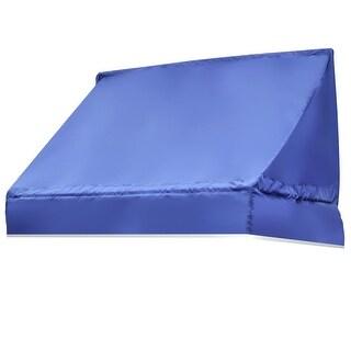 Gymax Window Awning Door Canopy Sun Rain Shade Shelter Blue