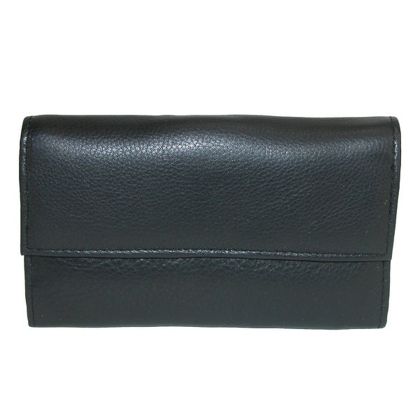 CTM® Women's Leather Clutch Wallet - One size
