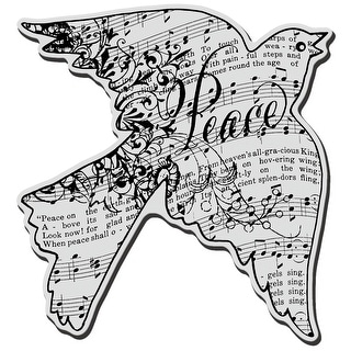 """Stampendous Cling Stamp 4.75""""X4.5""""-Dove Music"""