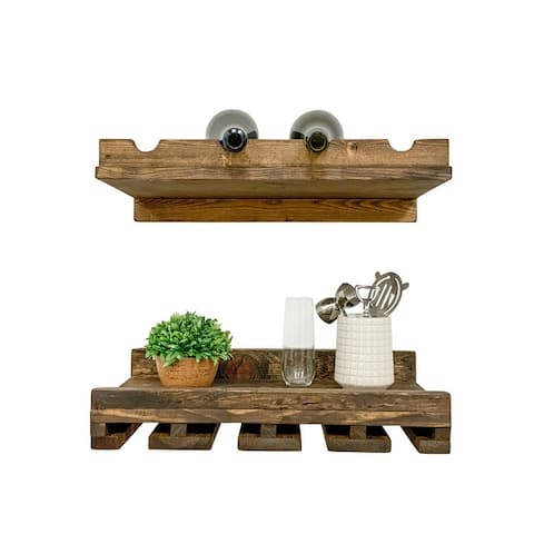 Rustic Luxe 20-Inch Tiered Wine Rack