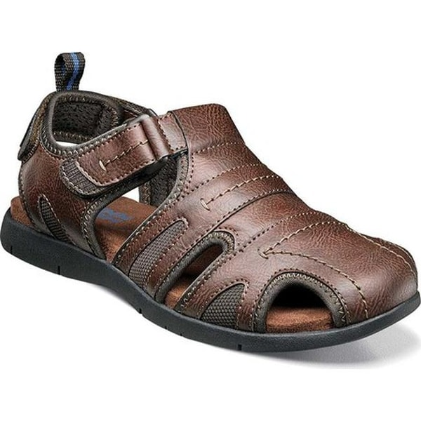 49c213dbdfb2 ... Men s Sandals. Nunn Bush Men  x27 s Rio Grande Closed Toe Fisherman  Sandal Tan Faux Leather