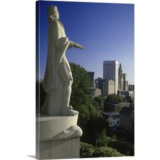 """Roger Williams statue, Providence, Rhode Island"" Canvas Wall Art"