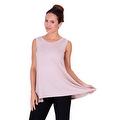 Simply Ravishing Women's Solid Round Neck Sleeveless High Low Asymmetrical Hem Tunic Top - Thumbnail 7