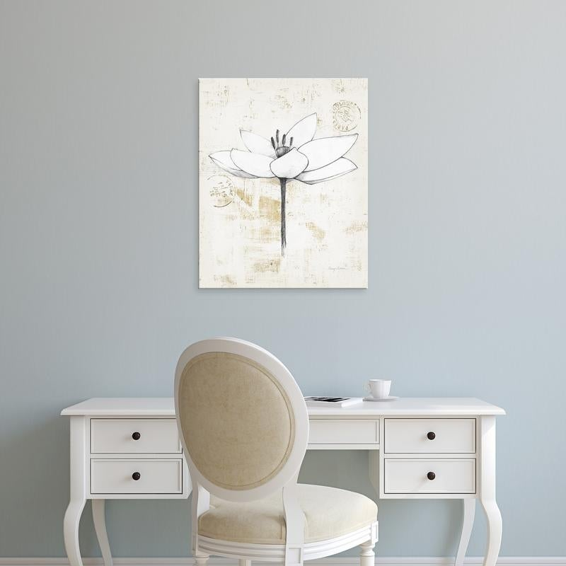 Easy Art Prints Avery Tillmon S Pencil Floral I Gold Premium Canvas Art On Sale Overstock 25743899