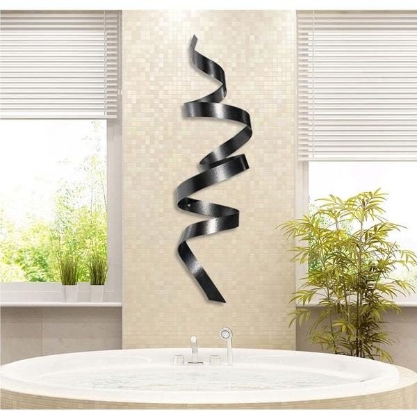 Statements2000 3D Modern Metal Wall Sculpture Decor Jon Allen Copper Wall Twist