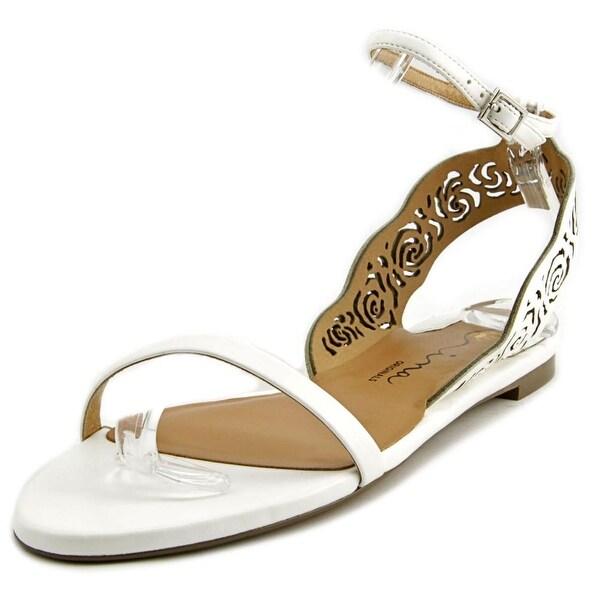 Nina Shiloh Open-Toe Leather Slingback Sandal