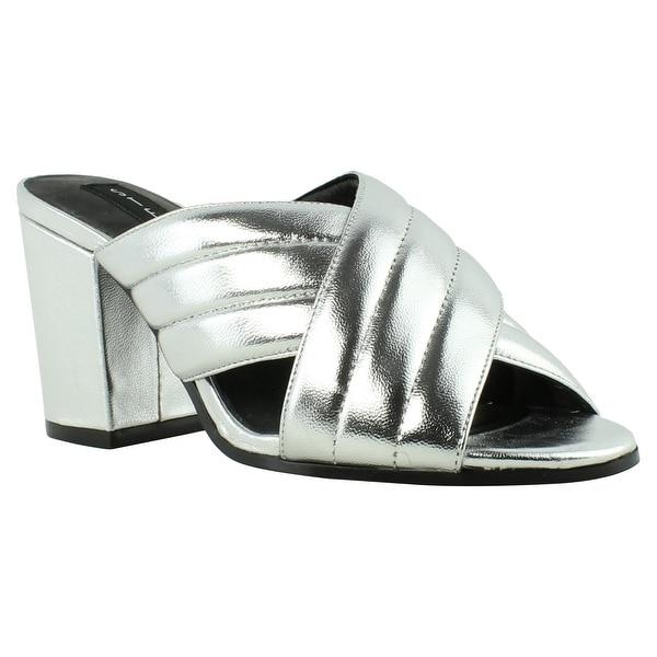 5bbda33a57a Shop Steve Madden Womens Zada SilverLeather Slides Size 6 - On Sale ...