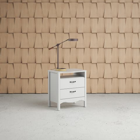 Copper Grove Schwartau White 2-drawer Nightstand