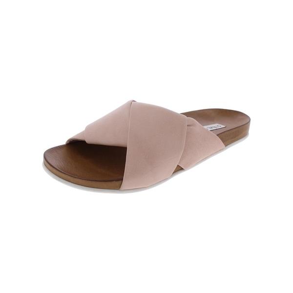 Steve Madden Womens Chrissta Slide Sandals Open Toe Casual - 11 medium (b,m)