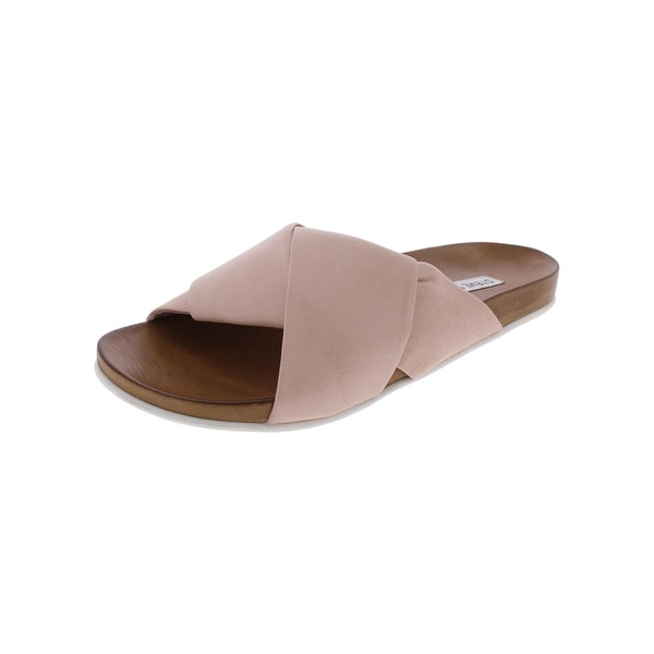 Steve Madden Womens Chrissta Slide Sandals Open Toe Casual