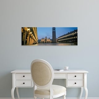 Easy Art Prints Panoramic Image 'Cathedral, St. Mark's Cathedral, St. Mark's Square, Venice, Veneto, Italy' Canvas Art