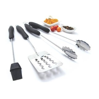Grill Pro 42120 Barbecue Tool Set, Stainless Steel, 3 Piece