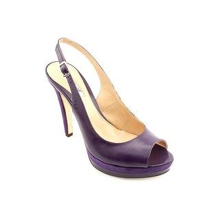 Charles David Shelby Women Peep-Toe Leather Slingback Heel