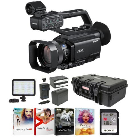 Sony HXRNX5R NXCAM Professional Camcorder w/ Built-In LED Light Bundle