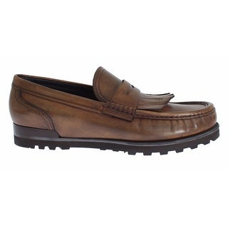 Dolce & Gabbana Brown Leather Loafers Casual Dress Shoes - 43
