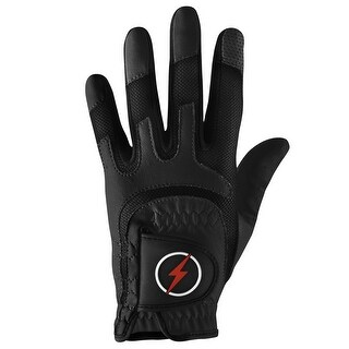 Powerbilt One-Fit Adult Golf Glove - Mens RH Black/Black