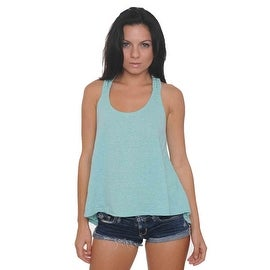 Women's Braided Back Tank Top Radiant Heather Colors Juniors Hi-Low Athletic Shirt