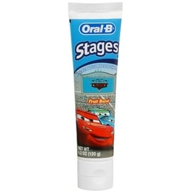 Oral-B Stages The World of Cars Toothpaste Fruit Burst 4.20 oz