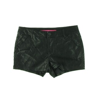 Tinseltown Womens Juniors Casual Shorts Faux Leather Mid-Rise - 5