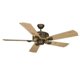 "Vaxcel Lighting FN52265 Log Cabin 52"" 5 Blade Indoor Ceiling Fan - Blades Included"
