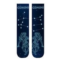 Unisex Adult Horoscope Socks - Astrological Sign Print - Gemini - One size