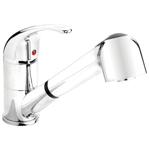 Belanger EBY77CCP Kitchen Sink Faucet with Swivel Pull Out Spout in Polished Chrome