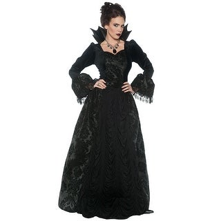 Underwraps Gothic Evil Queen Adult Costume - Black