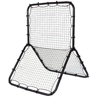 Gymax Baseball Softball Rebounder Throw Pitch Back Net Training