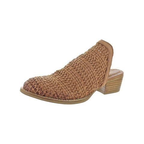 Very Volatile Womens Alejandra Mules Leather Block Heel