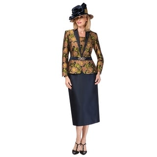 Link to Giovanna Signature Women's 2-pc Floral Brocade & Silk Wool Skirt Suit Similar Items in Suits & Suit Separates