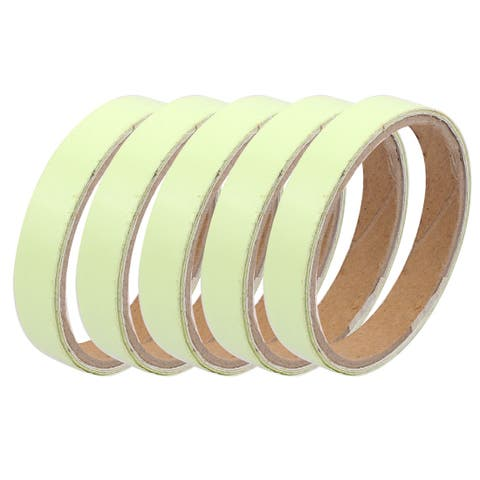 5Pcs 15mm x 1M Self-adhesive PET PVC Luminous Tape Stage Decor Light Green