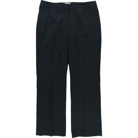Le Suit Womens Flat Front Casual Trousers, blue, 10P Regular - 10P Regular