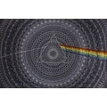 Handmade Cotton 3D Pink Floyd Dark Side of Moon Tapestry Tablecloth Spread 60x90 in 5 Colors - Green Blue Black Grey Purple - Thumbnail 4
