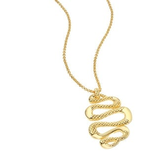 Just Cavalli Snake Pendant in Gold-Plated Stainless Steel - YELLOW