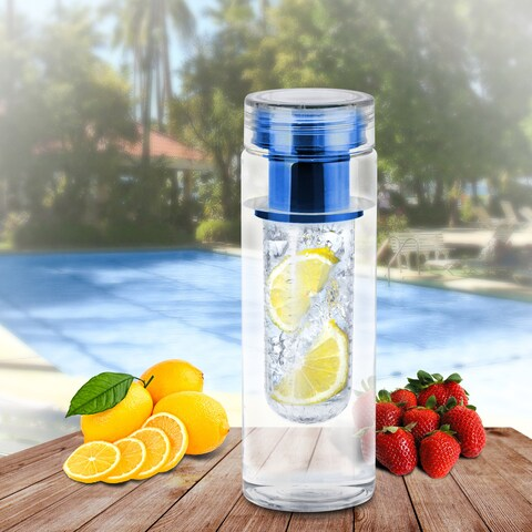 Portable Fruit Infusing Infuser Water Bottle, Non Toxic Bpa Plastic, Blue, US