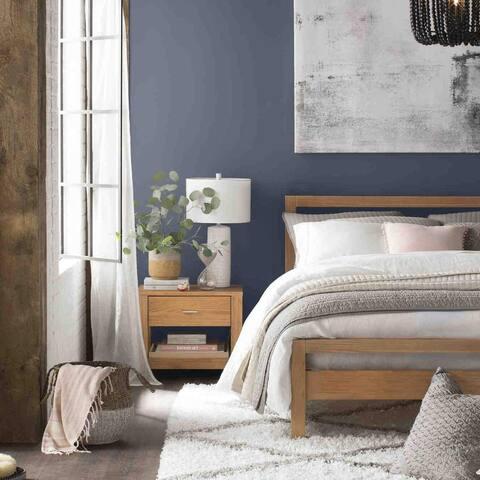 Grain Wood Furniture Loft Solid Wood 1-drawer Nightstand