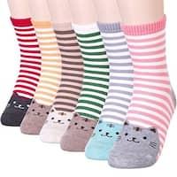 Women's Cute Art Cartoon Colorful Casual Crew Cotton Animal Socks